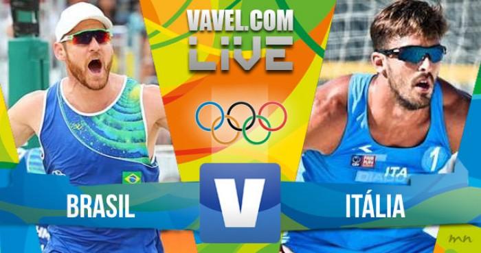 Vôlei de Praia masculino: Brasil x Itália hoje (2-0)