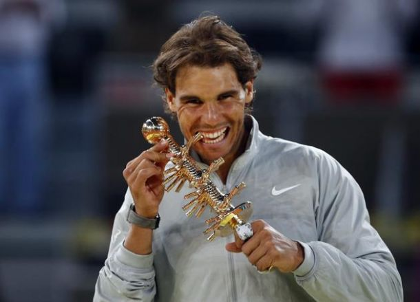 Nadal é campeão do Masters de Madrid após desistência de Nishikori