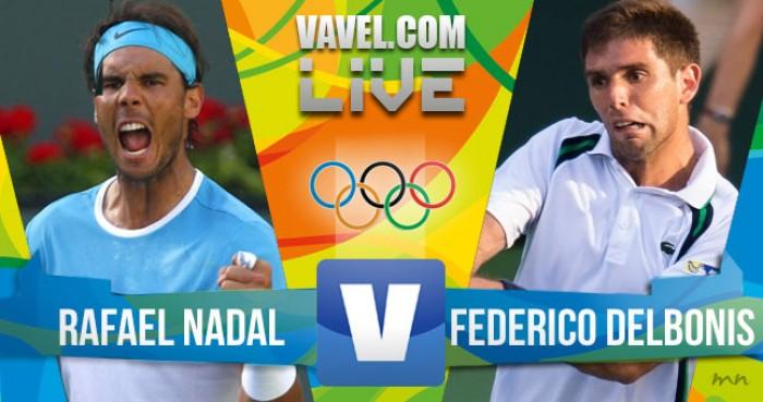 Rafael Nadal vence Federico Delbonis no tênis masculino dos Jogos Olímpicos (2-0)