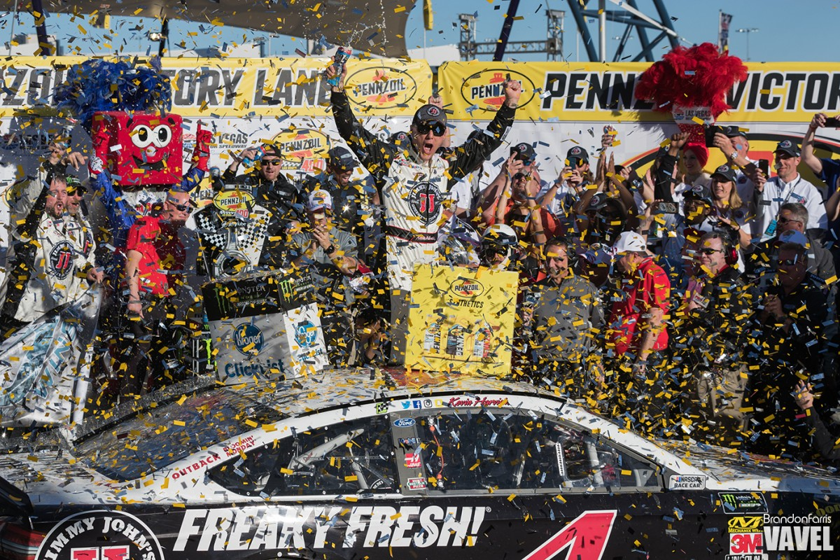 Kevin Harvick Dominates Field En-route to Vegas Win