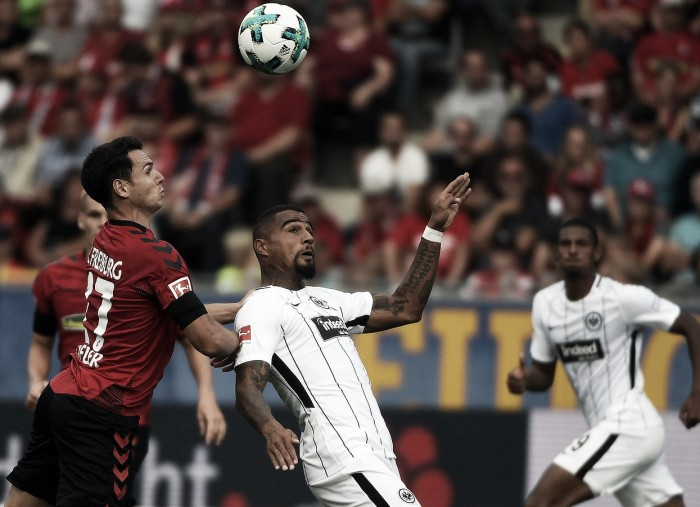 Na estreia de Kevin-Prince Boateng, Freiburg e Frankfurt empatam sem gols
