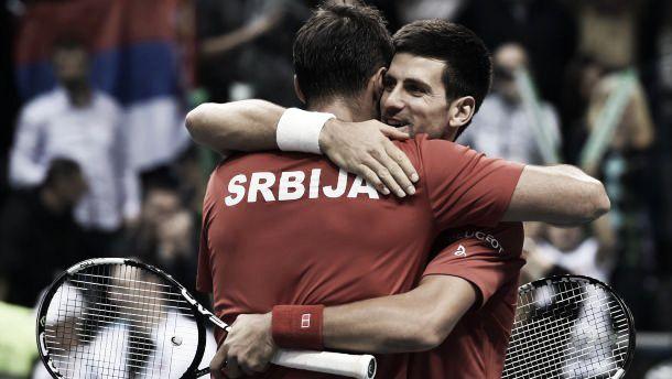 Coupe Davis : La Serbie déroule, l'Italie tombe