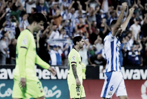 El Leganés vence a un lento Barcelona