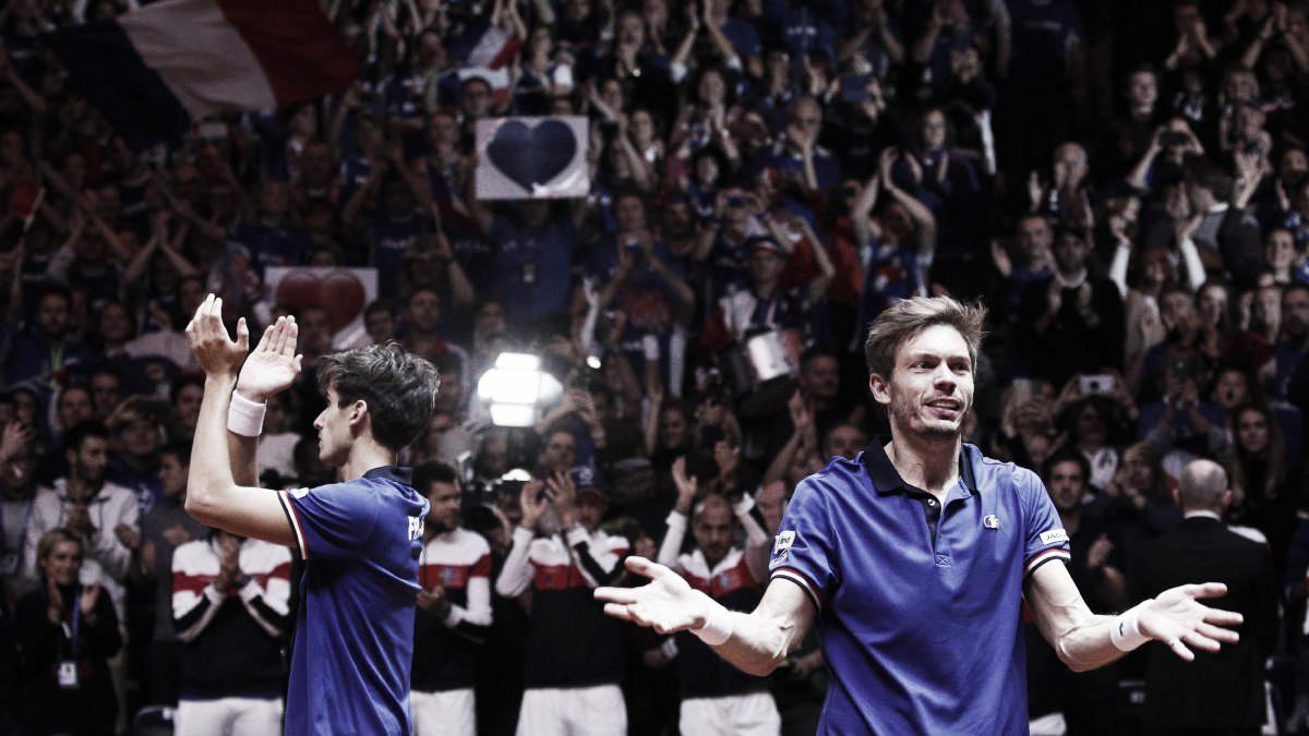 Francia tiene vida en la final de la Davis
