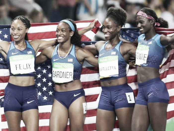 Rio 2016: Team GB secure bronze as USA romp to relay gold