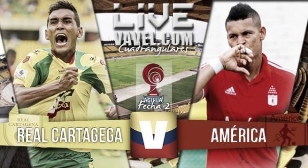 Resultado final Cartagena - América de Cali (2-1)en el Torneo Águila