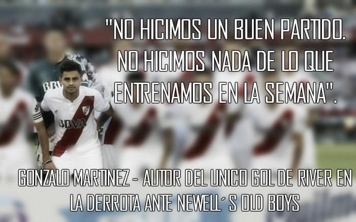 """Gonzalo Martínez: """"Arrancamos mal, terminamos mal"""""""