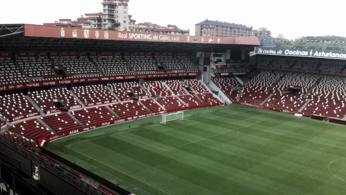 El Molinón, escenario del Sporting B - Mirandés