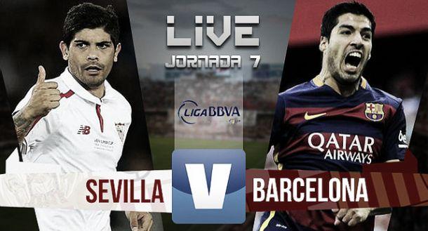 Resultado Sevilla FC vs FC Barcelona en la Liga BBVA 2015/16 (2-1)