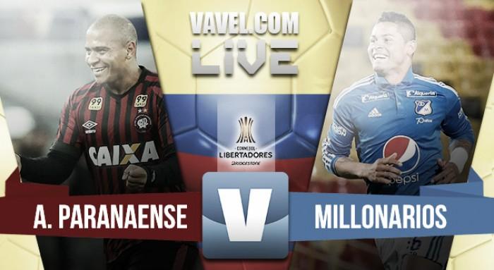 Resultado Atlético Paranaense vs Millonarios en CONMEBOL Libertadores 2017 (1-0)