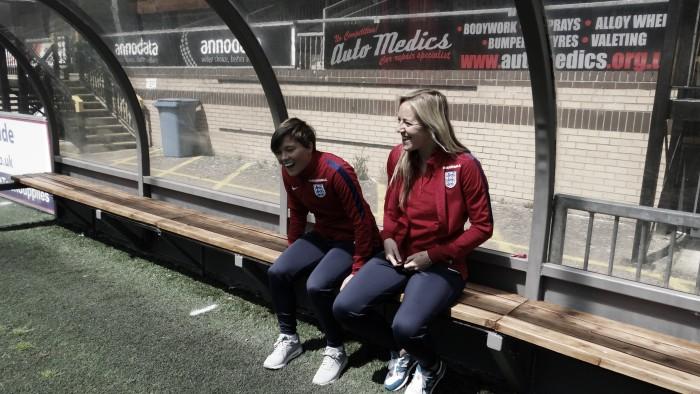 Fran Kirby and Gemma Davison talk Chelsea, England and superheroes