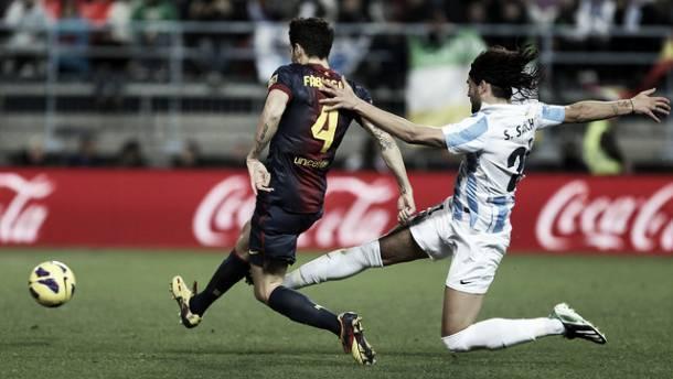 Resultado Málaga - FC Barcelona en Primera División 2013 (0-1)