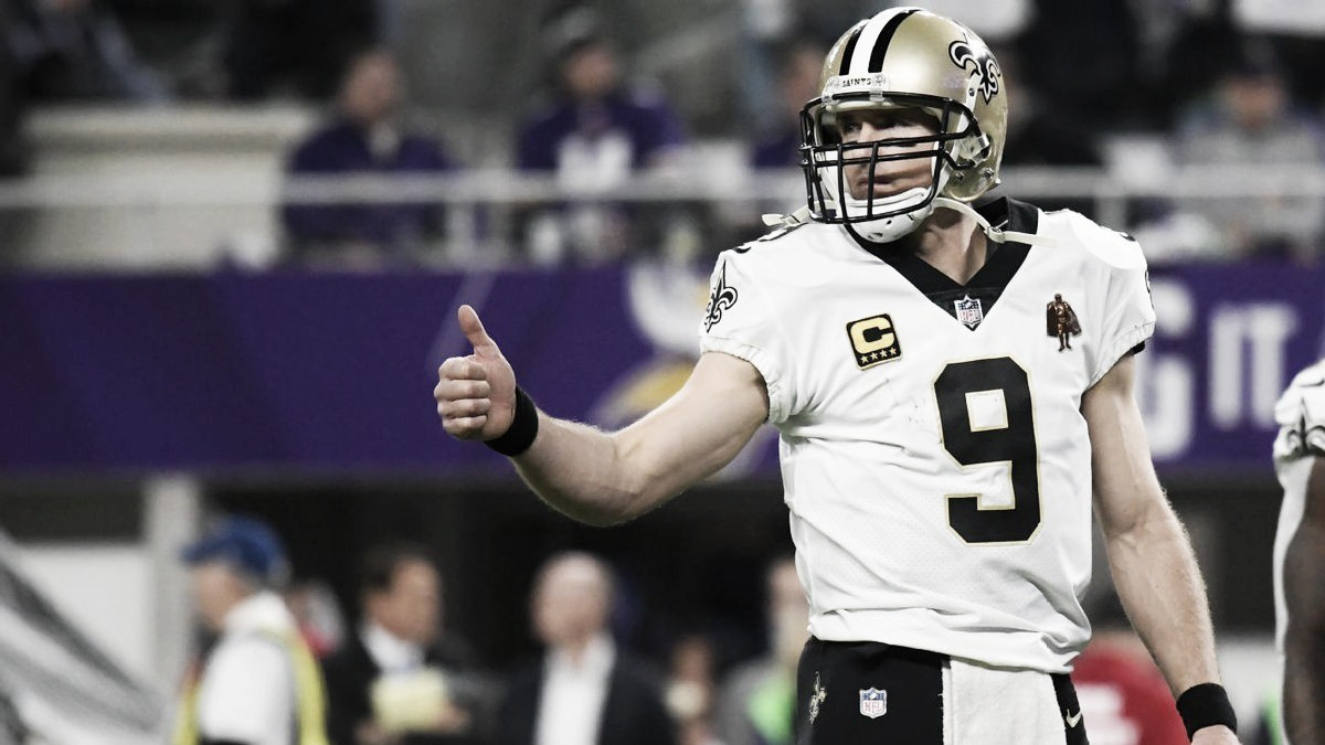 Lendário quarterback do New Orleans Saints, Drew Brees renova por duas temporadas