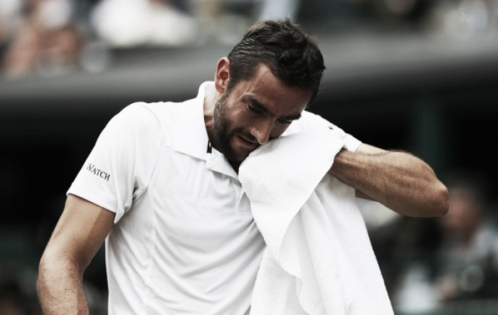Marin Cilic was affected by a foot blister in the gentlemen's singles final