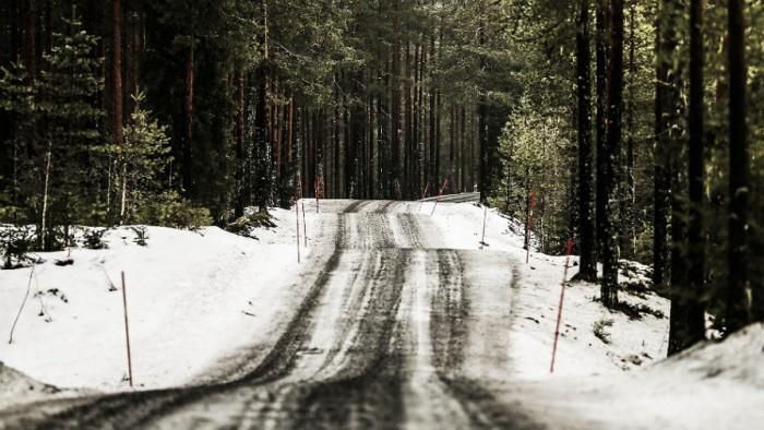 Hayden Paddon ataca en los bosques nevados