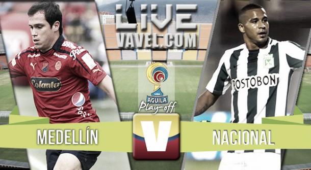 Resultado Medellín 2-0 Nacional ida semifinales Liga Águila 2015: el DIM pega primero