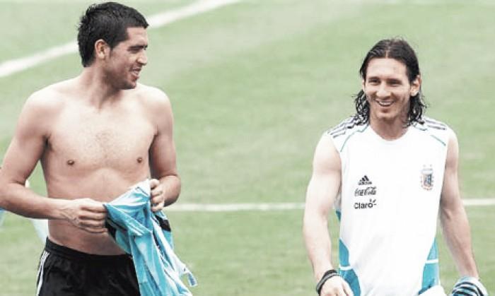 Román elogió a Messi y habló de Bianchi
