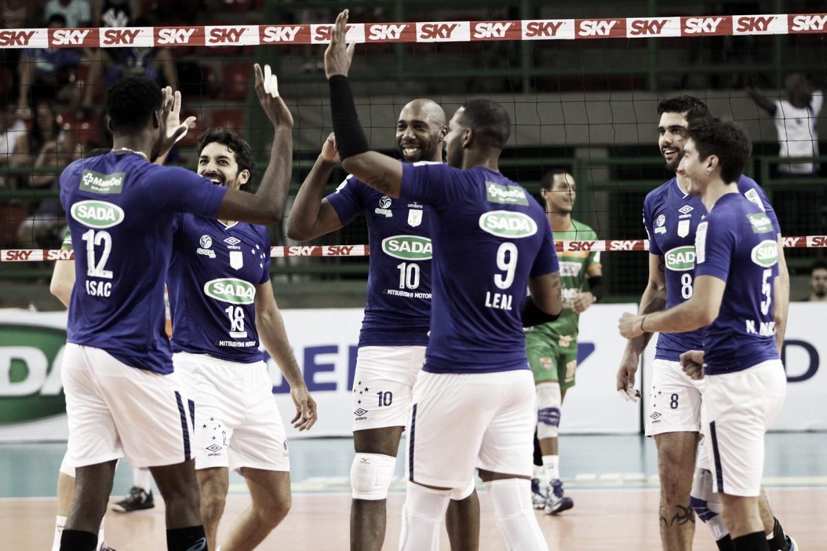 Sem sustos, Sada Cruzeiro larga na frente do Canoas nas quartas de final da Superliga Masculina