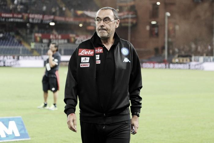 """Maurizio Sarri: """"Con algo más de suerte habríamos marcado en los primeros 85 minutos"""""""