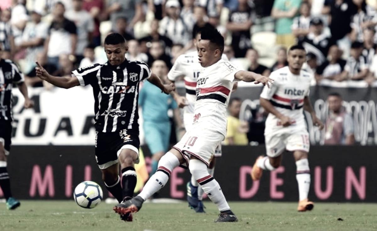 Defendendo sequências de invencibilidade, São Paulo e Ceará se enfrentam no Morumbi