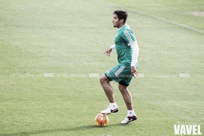 Vargas, baja ante el Atlético de Madrid