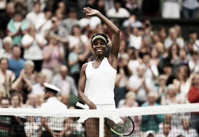 Wimbledon: Vintage Venus Williams sees off Jelena Ostapenko to reach 10th semifinal at SW19