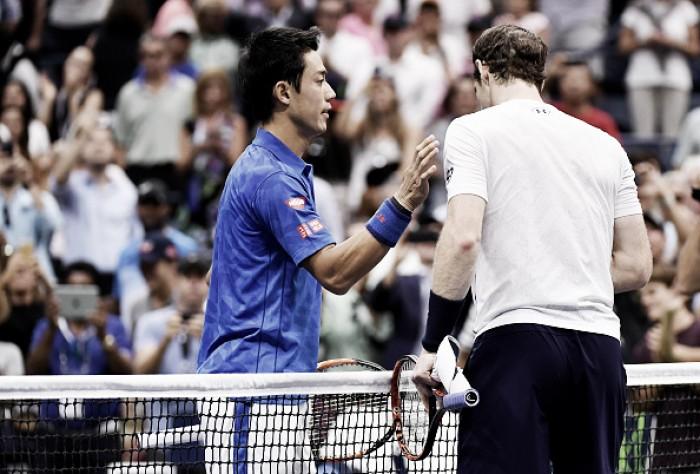 Nishikori vence batalha contra Murray e avança à semifinal do US Open