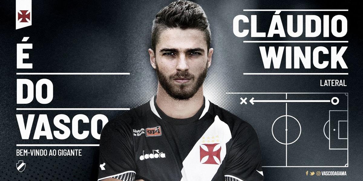 Vasco acerta com lateral-direito Cláudio Winck por duas temporadas