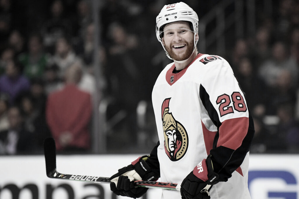 Connor Brown en un partido con los Sens - theathletic.co.uk