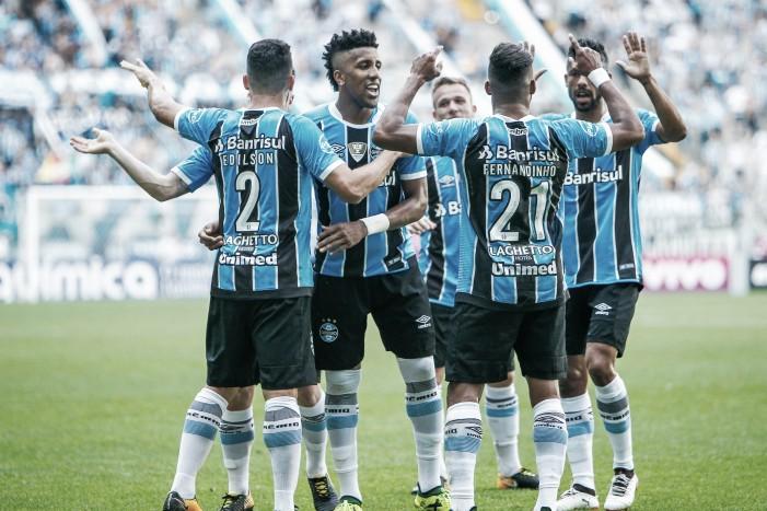 """Grêmio supera desfalques para golear e atletas enaltecem grupo: """"Provamos que somos fortes"""""""