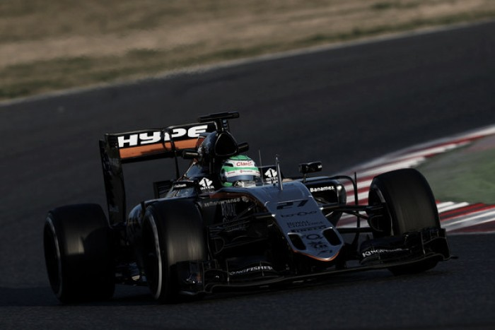 Barcellona, Day 3: Force India in testa
