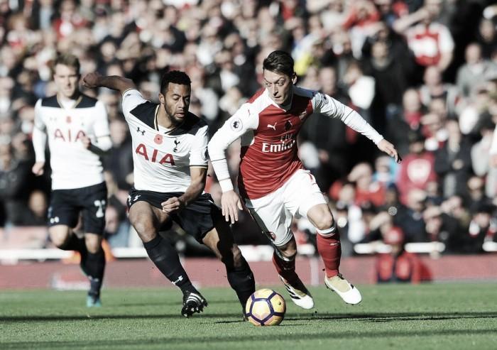 Arsenal cede empate ao Tottenham no dérbi londrino e perde chance de assumir liderança