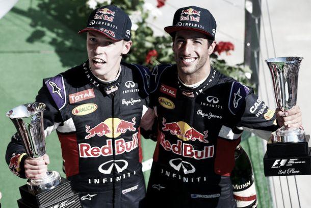 """Ungheria, la rinascita Red Bull. Ricciardo: """"Ci ho messo il cuore"""". Kvyat: """"Sono tanto emozionato"""""""