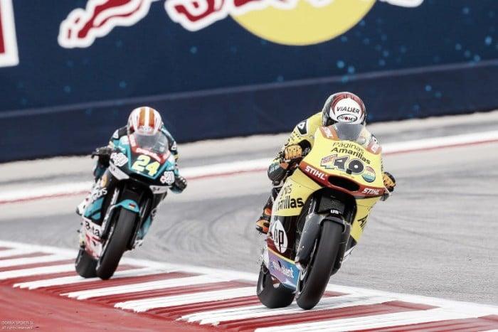 Moto2, Austin: pole per Rins. Paura per Vazquez