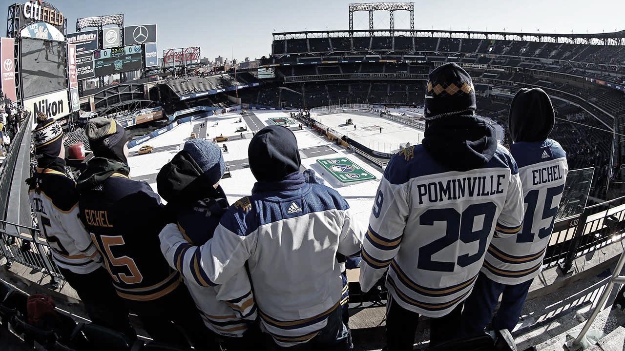 Winter Classic de 2018 celebrado en el Citi Field de NY entre los Sabres y los Rangers - sportsnet.ca