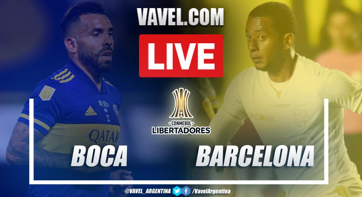 Resumen Boca vs Barcelona SC (0-0) en la fecha 5 del grupo C por Copa Libertadores 2021