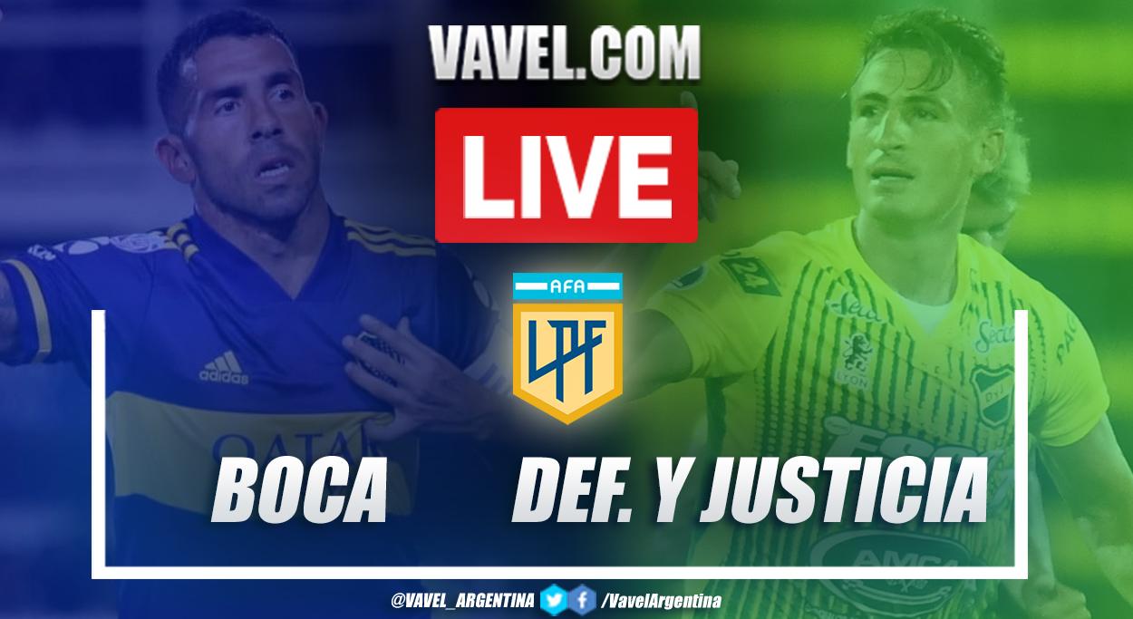 Resumen Boca vs Defensa y Justicia (2-1) en la fecha 8 por Copa de la Liga Profesional 2021