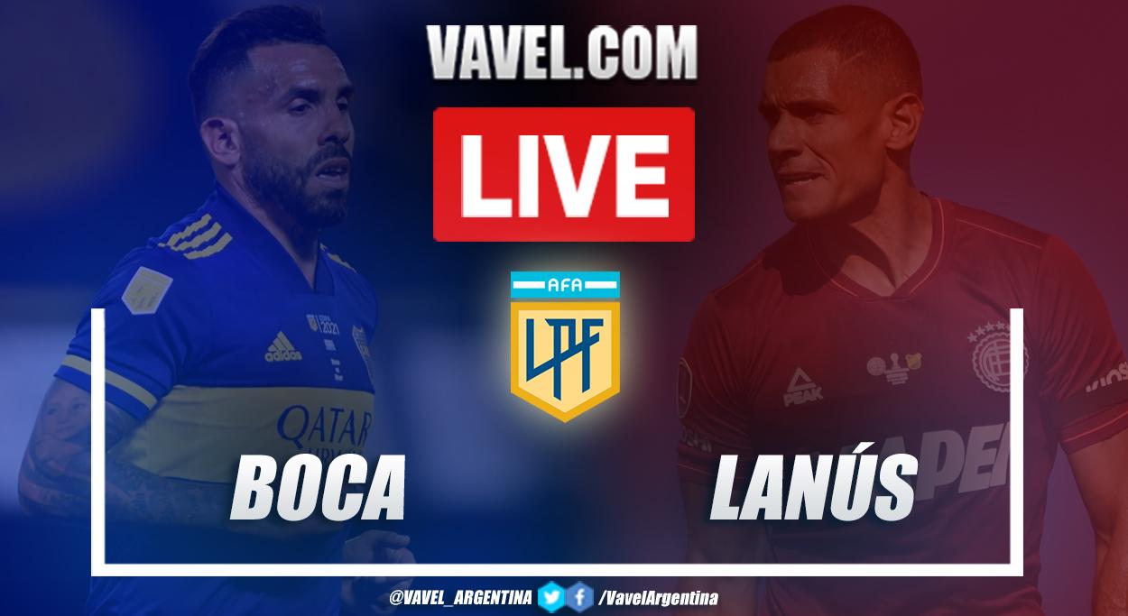 Resumen Boca vs Lanús (1-0) en la fecha 12 por Copa de la Liga Profesional 2021