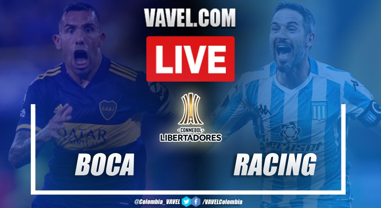 Resumen de Boca vs Racing (2-0) - Global (2-1) por el partido de vuelta de los cuartos de final de la Copa Libertadores