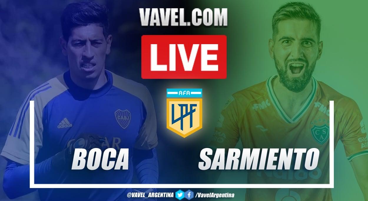 Resumen Boca vs Sarmiento (1-1) en la fecha 3 por Copa de la Liga Profesional 2021