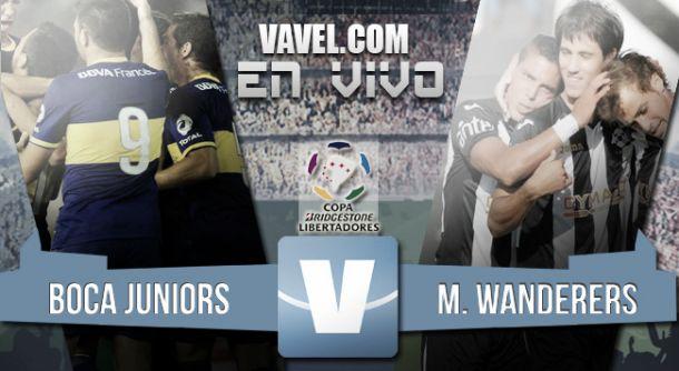 Resultado Boca Juniors - Wanderers por Copa Libertadores 2015 (2-1)