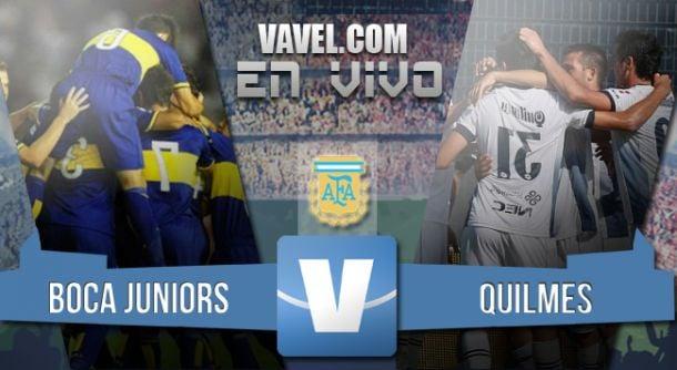 Resultado partido Boca Juniors - Quilmes 2015 (2-1)
