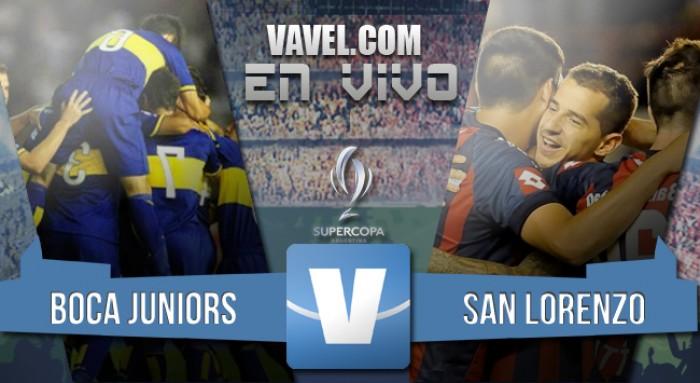 Resultado de Boca - San Lorenzo en la Supercopa Argentina (0-4)