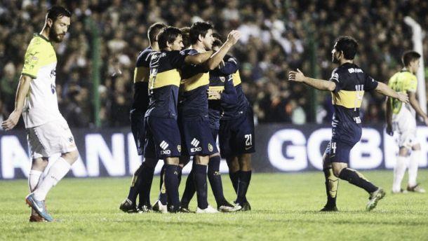 Boca venció a Sarmiento y es el único puntero