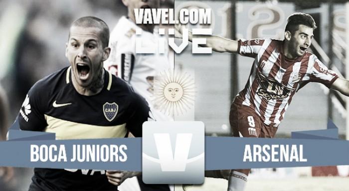 Resultado Boca Juniors 3-0 Arsenal en Liga Argentina 2017