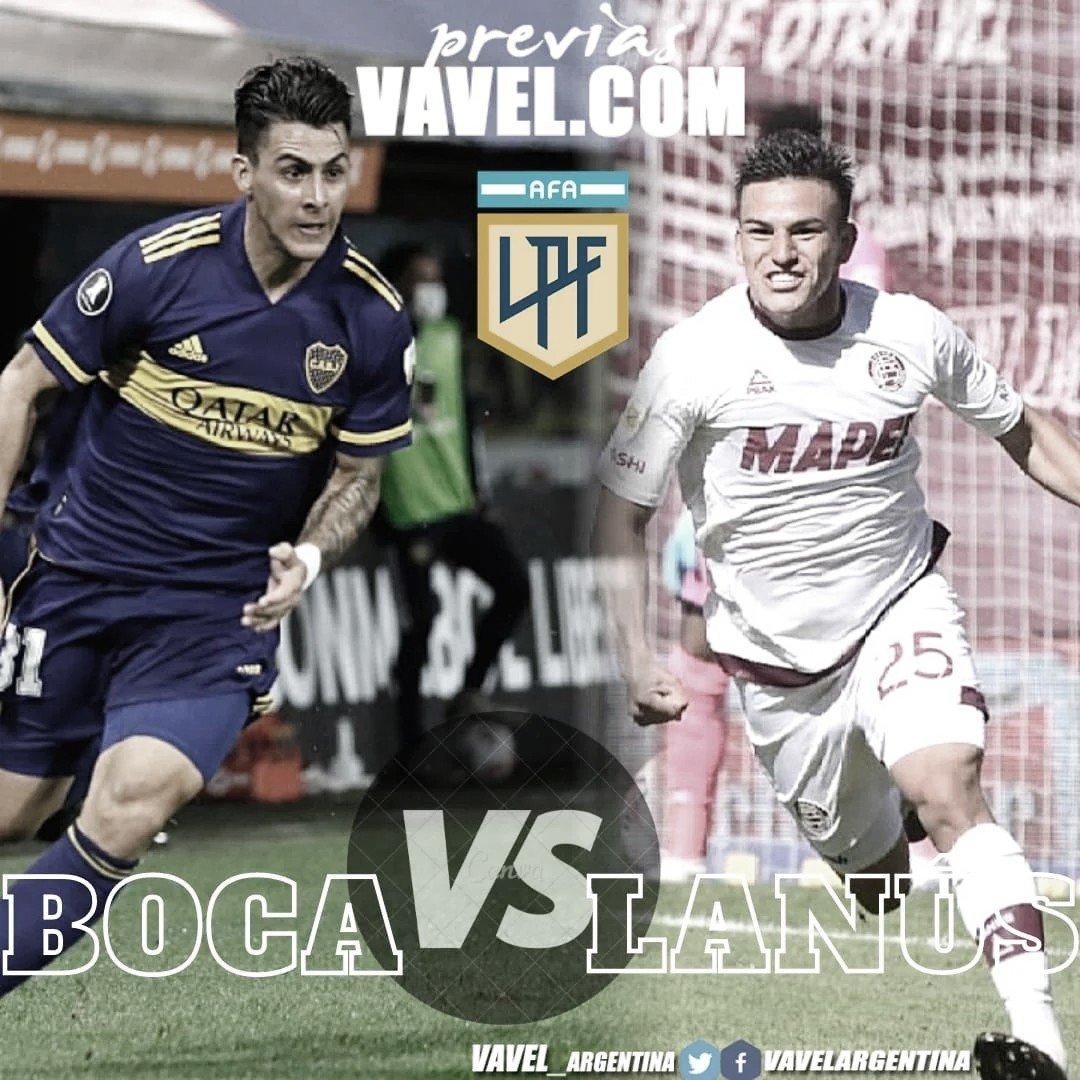 Boca vs Lanús, últimos detalles antes del encuentro por la Copa de la Liga Profesional