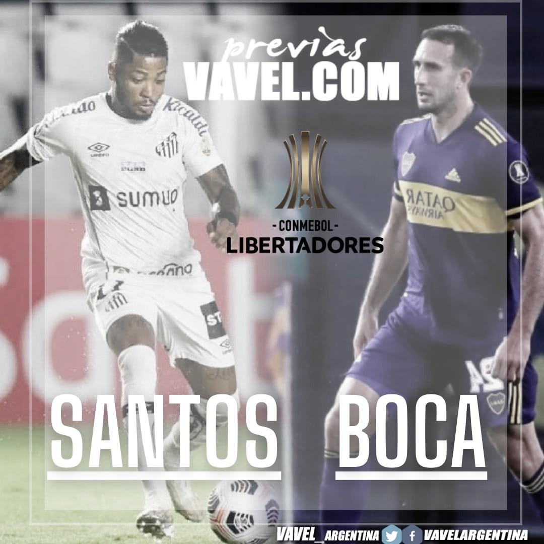Boca visita a Santos en busca de una victoria.