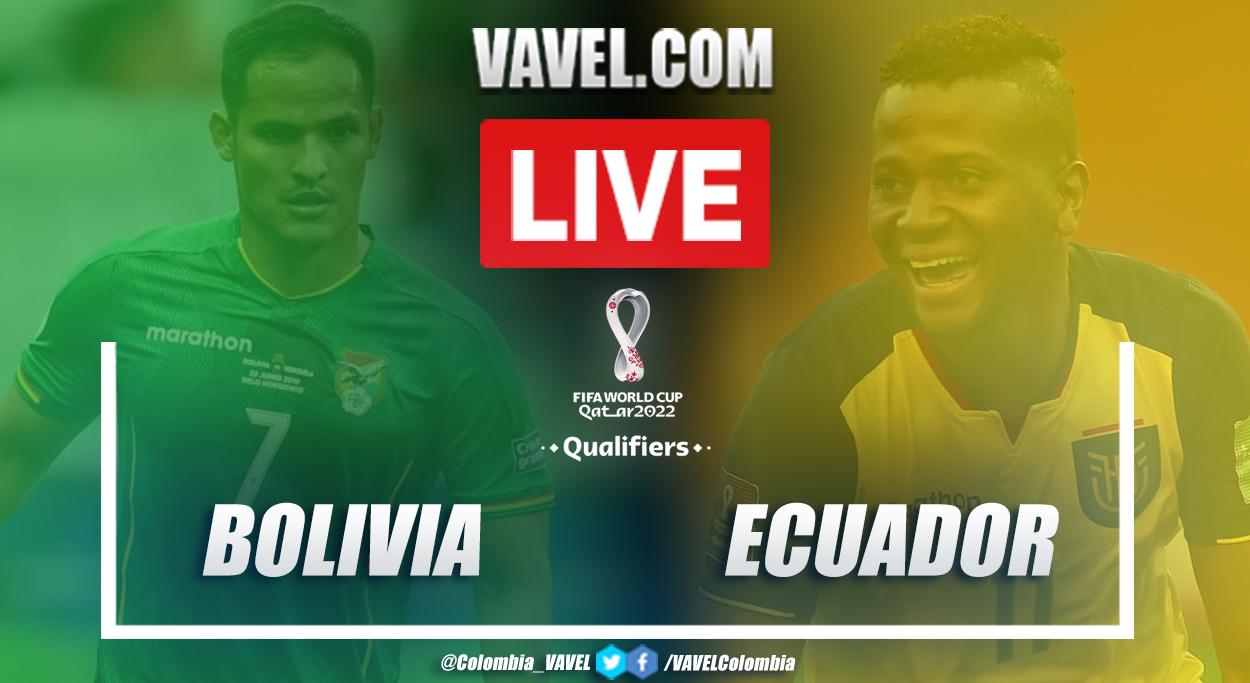 Resumen y goles Ecuador vs Bolivia EN VIVO hoy (2-3)