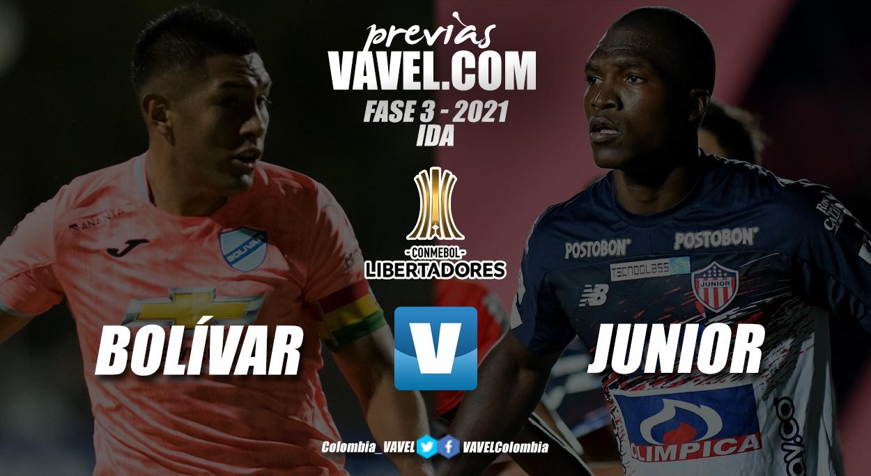 Previa Club Bolívar vs Junior de Barranquilla: el primer choque por la clasificación