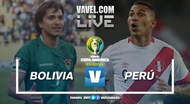 Resumen Bolivia vs Perú por la Copa América 2019 (1-3)